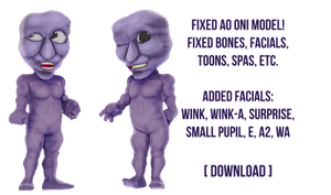 [MMD] FIXED AO ONI MODEL DOWNLOAD (v.1.01) by Ocuuda