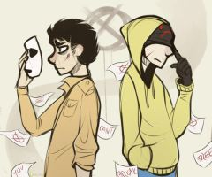 |Marble Hornets Fanart| Afterall we're just humans by 0ktavian
