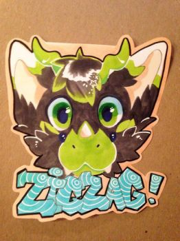 Headshot badge for ZigZag by bootiehole