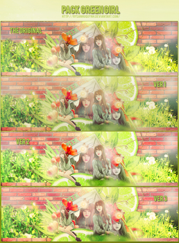 [150617] PACK COVER GREEN GIRL by rysanhuquynh