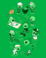 Threadless: Lawn of the dead by annamariajung