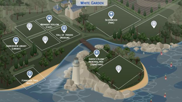 White Garden - Sims 4 Fanmade Map by filipesims