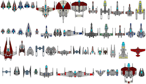 Star Wars starfighters by kavinveldar