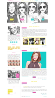 Free G-Portal fansite theme with Lucy Hale by Efruse