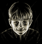 Scratchboard Boy by WorldsEdge