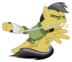 Daring Do Injured by iscord