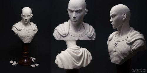 Saitama (One Punch Man) Sculpture by Graphesium