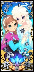 Frozen - Elsa and Anna by illust-ringo