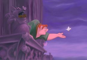 The Hunchback of Notre Dame by cattybonbon