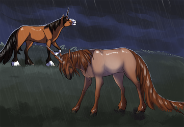 Quirlicorns - Rainy Day by Keartricity