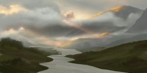 2017-11-20 Landscape with clouds, from tutorial by yade-art