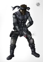 Solid Snake by risingart11