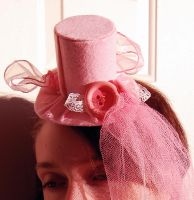 Sweet Pink Lolita Tiny Top hat by TinyTopHats