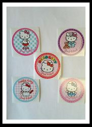 Hello Kitty Great Patient Stickers by Bjnix248