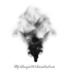 Creepy black smoke element by VDRagon1964