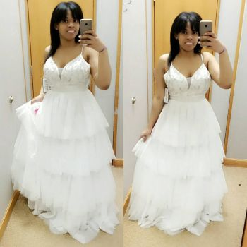 Me wearing a white ball gown dress from Dillard's  by 8TeamFriends8