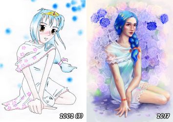 Roses - Repaint after 15 years by Wolka-Art