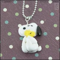 Snoopy Charm Necklace by junosama