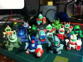 My Gundam Gashapon Grunts collection by BazSg