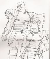 nappa and vegeta by DrForrester87