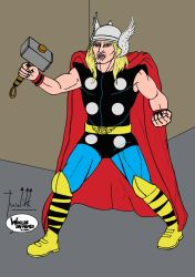 Marvel - Classic Thor in color by Tuulikk