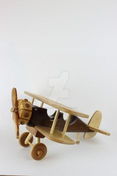 Wood Bi Plane by JThomastheartist13