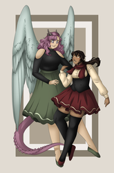 Effie and Armani by Peachii-Bear