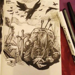 VII. exhausted Inktober2018  by AgentJericho