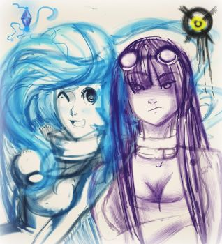 DC ocs,: Frostlight and Corrosa by ForgetMorals