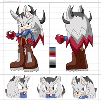 CM: Ten Spears the hedgehog Reference Sheet by shadowhatesomochao