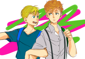 Butters and Bradley by denmeka