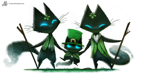Day 847# Happy St-Patrick's Day #Sidhe by Cryptid-Creations