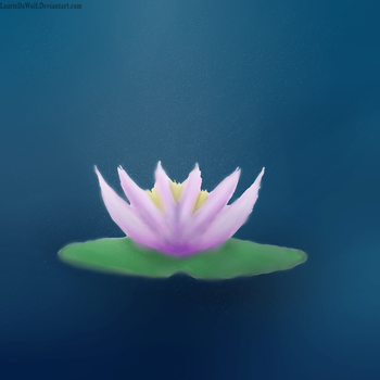 lily pad by LaurieDaWolf