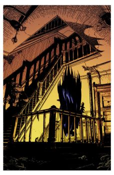 Bat Drop by Michael Golden by DrDoom1081