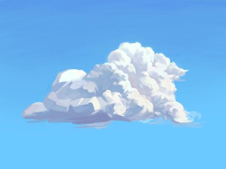 practice in painting clouds by CircleFork