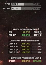 Love 1.1: System Temperature Monitor by Viklove
