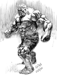 Hulk sketch by fabiocralves