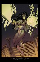 Spider-Woman ECCC 2013 with Wiacek and Campbell by mechangel2002