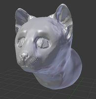 3D Cat Head by GwillaTheDragon