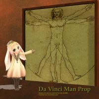 MMD Da Vinci Man Prop by Trackdancer