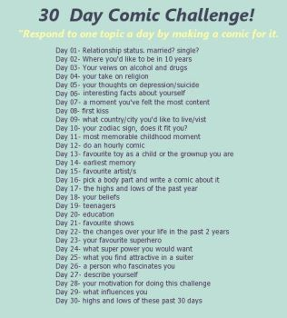30 day comic challenge by miquashi
