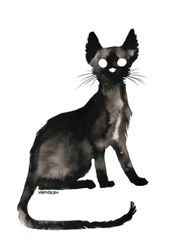 Ink Cat 11 by Myrntai