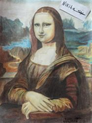 Drawing Mona Lisa by nikita6669