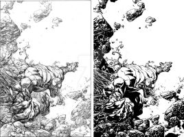 Venom Spaceknight Cover 10 Pencils and Inks by Spacefriend-KRUNK