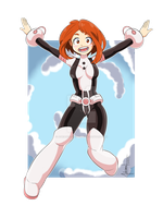Uraraka Ochako by AdrianoL-Drawings