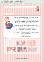 [F2U] [CORE] Sayori Custom Box (DDLC) by JosieXBlueJ