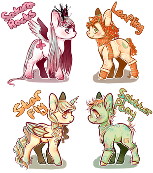 [$8/800 Points] My Little Pony Adoptables [OPEN] by Ruerie