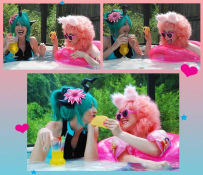 Fluffle and Chryssi Summer Vacation Silliness by AngelSamui