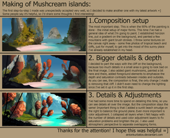 Mushcream islands: step-by-step process by AntonKurbatov