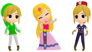 MMD Toon Link and Toon Zelda DL by 2234083174